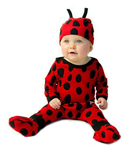 Costumes For Babies Australia (LADYBUG Baby Costume Outfit (3-6 m) - Animal Print Funky Baby Clothes)