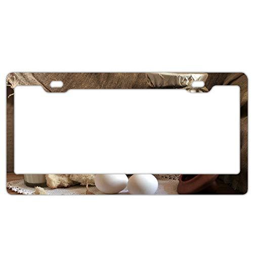 (Decor Car Vehicle License Plate Souvenir Metal Sign Plaque Milk Eggs Jar Relish)