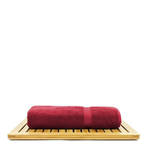 BC BARE COTTON Bare Cotton Luxury Hotel & Spa Towel Turkish Bath Sheets Dobby Border (Cranberry, Bath Sheets - Set of 2) by BC BARE COTTON (Image #4)