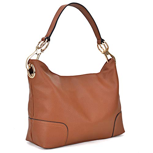 (Classic Women Hobo Shoulder Bag Ladies Tote Purses Handbag with Big Snap Hook)
