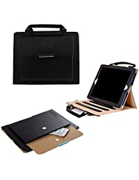 iPad Pro 10.5'' Case Cover,TechCode Luxury Portable Business Style Handbag Slim PU Leather with Handle Pocket Stand Carrying Case for iPad Pro 10.5'' 2017(Black)