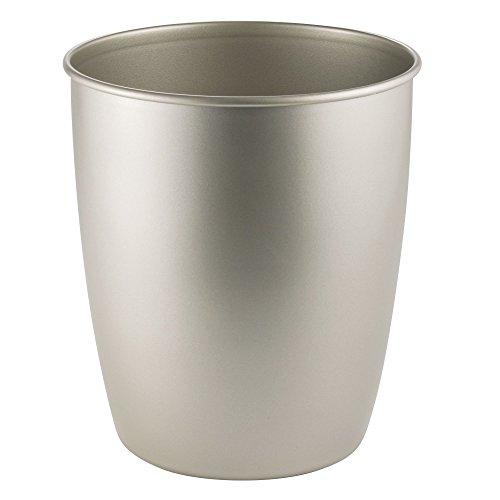 (InterDesign Hamilton Wastebasket Trash Can, Satin)