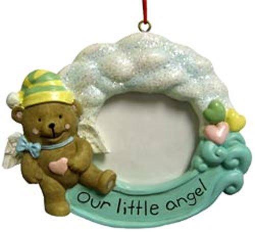 Our Little Angel Teddy Bear Frame Christmas Ornaments [48525-5]