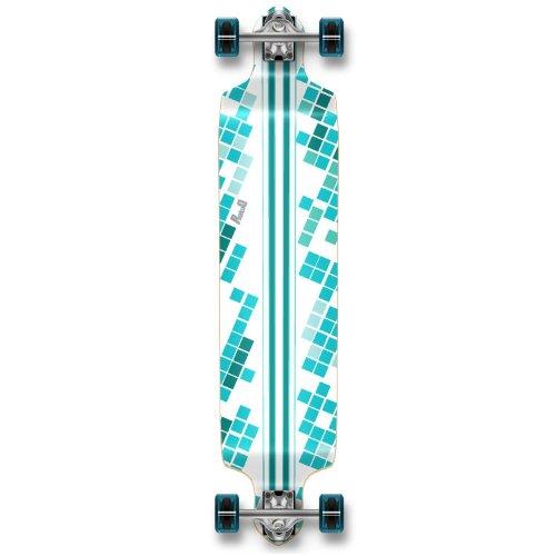 Professinal Speed Drop Down Complete Longboard Skateboard (White Digital Wave)
