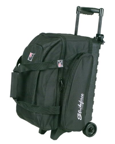 KR Strikeforce Eliminator 2-Ball Roller Bowling Bag (Black)
