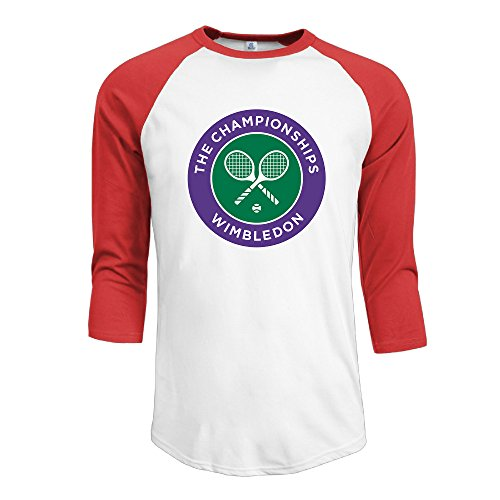 Champ 3/4 Sleeve Raglan Shirt - IYaYa 2016 Wimbledon Champs Men's 3/4 Sleeve Raglan Baseball Shirt Red
