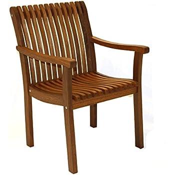 Outdoor interiors vc5060 eucalyptus venetian deluxe arm chair folding patio for Outdoor interiors eucalyptus rocking chair