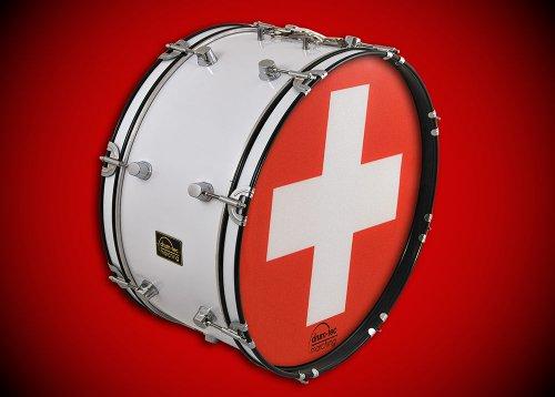 drum-tec Nation - Marching Bass Drum / Fan Trommel