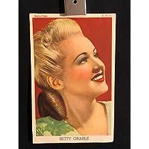 Betty Grable 1940s Original Vintage Spanish Herald Program Movie Poster, Portrait
