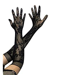Stretch Midnight Sexy Girls Lace Elbow Length Gloves