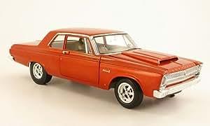 Plymouth Belvedere A990, met.-anaranjado , 1965, Modelo de Auto, modello completo, Autopista 61 1:18