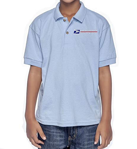 Usps Postal Post Office Youth L Short Sleeve Polo Shirt 50 50