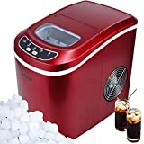 Della Portable Ice Maker up to 26 pounds of Ice Daily, Red