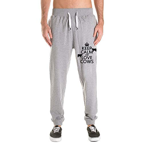 Printed Keep Calm and Love Cows Adult Men's Sweatpants by PUREYS-I (Image #2)'
