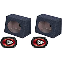 2) NEW BOSS CH6930 6x9 400W Car Audio Speakers + 2) 6x9 Speaker Box Enclosures