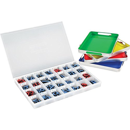 Really Good Stuff MAGtivity Tins with Soft Touch Magnetic Letters Classroom Kit by Really Good Stuff