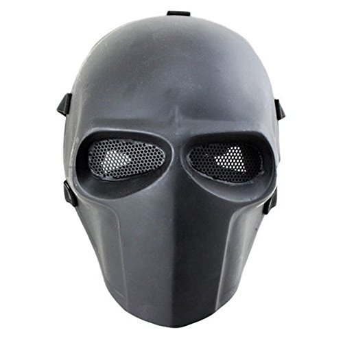 iMeshbean Airsoft Skull Masks Full Face - Tactical Mask Helmet Eye Protection for CS Survival Games BBS Shooting Masquerade Halloween Cosplay Movie Props Zombie Scary Skeleton -