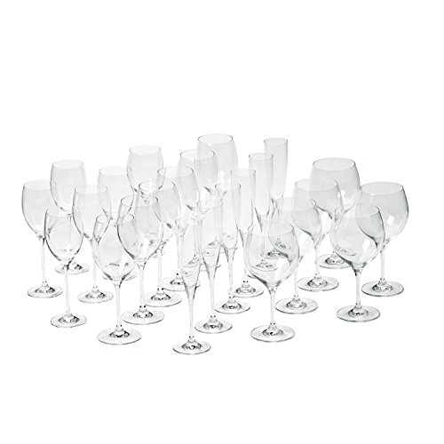 Villeroy & Boch 1137319216 Maxima Stemware Set, Bordeaux, Burgundy, White wine, and champagne goblets, Clear