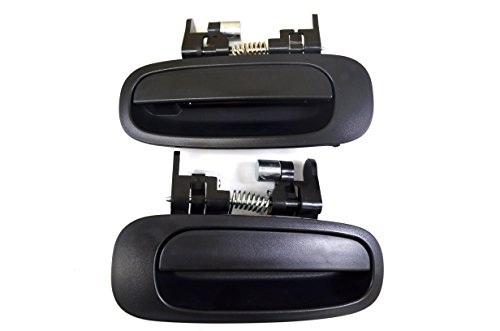 PT Auto Warehouse TO-3199A-RP - Outside Exterior Outer Door Handle, Textured Black - Rear Left/Right Pair ()