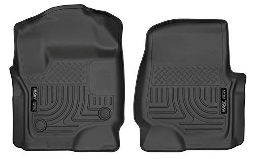Husky Liners Black Weatherbeater Front Floor Liners Fits 2017-19 Ford F-250/F-350 Crew/SuperCab w/factory carpet