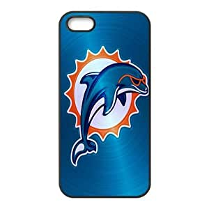 Custom Miami Dolphins NFL Back Cover Case for iphone 5,5S JN5S-1834