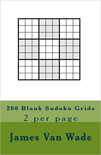 photograph regarding Blank Sudoku Grid Printable identify 200 Blank Sudoku Grids: 2 for every site: James Van Wade