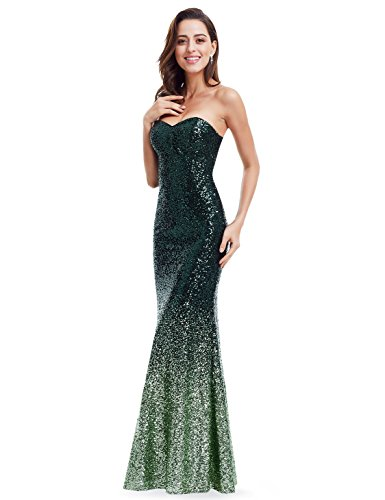 Amazon.com: Ever Pretty Strapless Sweetheart Neckline Sparkling Gradual Sequin Mermaid Evening Dress Prom Dress 07001: Clothing