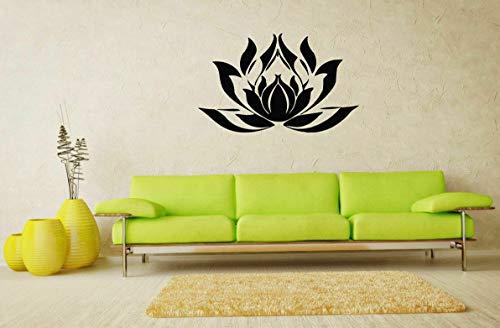 (Tomikko Wall Art Vinyl Sticker Room Decal Mural Decor Yoga Lotus Flower Hindu bo446 | Model DCR - 653)