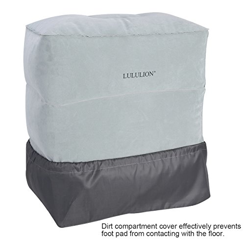 Lululion Inflatable Travel Pillow Airplane Footstool For