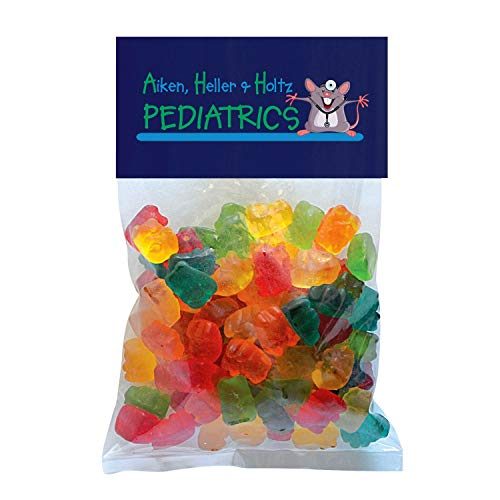 Candy Gift Pack-Gummy Bears with CUSTOMIZED Business Card Magnet in Large Header Pack- BULK Quantities-100, 250, 500 or…