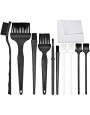 ACKLLR Anti Static Brushes Set with Microfiber Cleaning Cloth, 11 in 1 Small Portable Plastic Handle Nylon Cleaning Brush Kit for Computer PC Keyboard Laptop Screen Electronics Camera Lens Phone Car