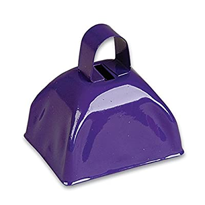 3-inch Purple Metal Cow Bell (Bulk Pack of 12 Bells): Health & Personal Care
