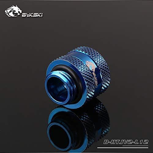 Bykski Rigid 12mm OD Fitting V2 4 Pack Blue