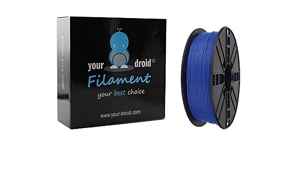 Your Droid Asa filamento Blue 1.75 mm 1 kg Bobina Impresora 3D ...