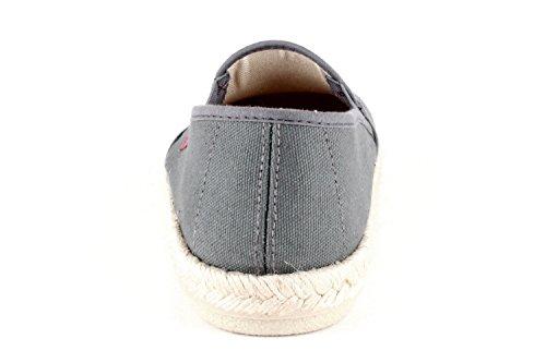 Andrés Unisex Con Slip Talla Am500 Yute Zapatos Machado on Color Gris 46 Tela De Caucho borde dqzftEwxf