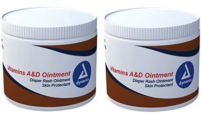 Dynarex Vitamins A & D Ointment, 15 oz Jar (2)