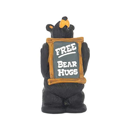 (DEMDACO Free Bear Hugs Black Bear 4.5 x 2.5 Hand-cast Resin Figurine Sculpture )