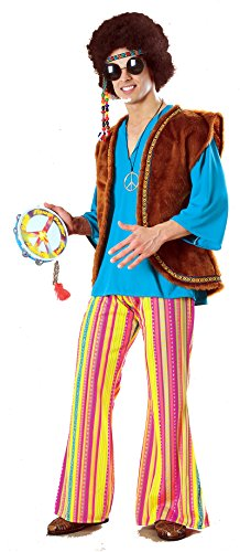 John Q Woodstock Adult Costumes (15812 (XL) John Q Woodstock Hippie Adult Hippie Costume)