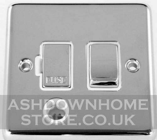 G&H CC256 Standard Plate Polished Chrome 1 Gang Fused Spur 13A Switched & Flex Outlet G&H Brassware