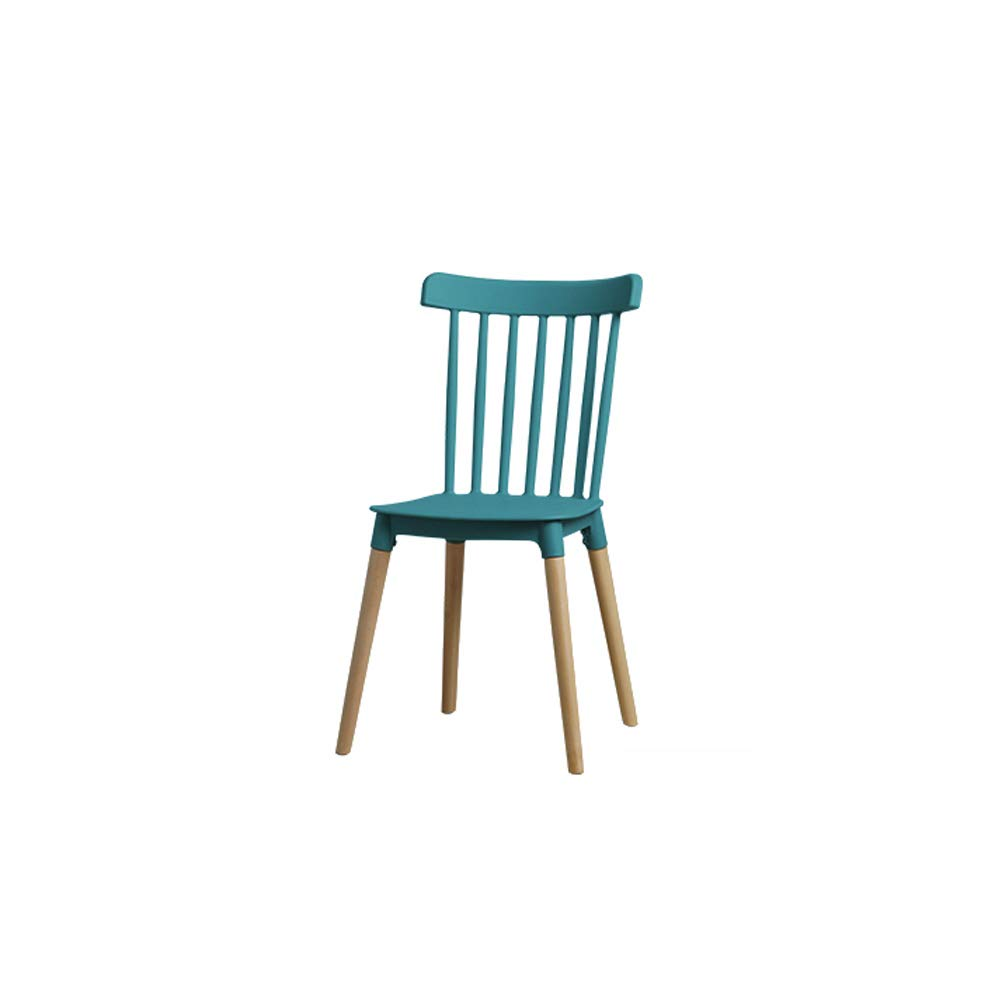 GREEN LRZS-Furniture Nordic Small Family Dining Chair Modern Simple Family Backrest Dining Room Adult Japanese Solid Wood Plastic Chair (color   Chrome)