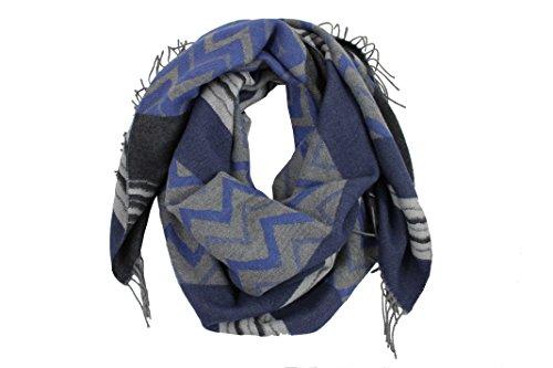 Elegant lady weaved scarf - very soft and warm - cloth zig zag pattern