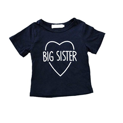 Winzik Newborn Infant baby Girls Boys Outfits Brothers and Siser Letters Print Romper Jumpsuit Clothes T-shirt (6-12 months, big - Brothers Suit Blues Style