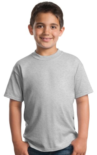 Port & Company 174 - Youth Core Blend Tee. PC55Y Large Ash