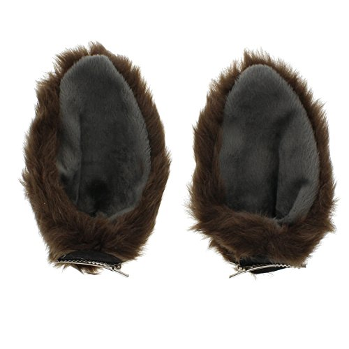Zac's Alter Ego® Pair of Brown Wolf Ears on Clips