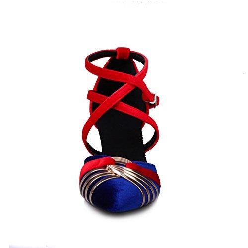 Tobillo Tira Sintético de YE Mujer Azul de qOw4x4Z1E