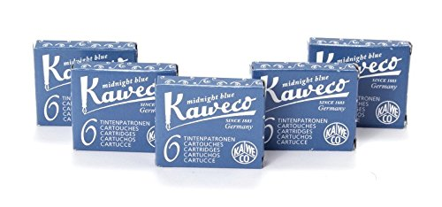 Kaweco Fountain Pen 30 ink cartridges short blue/black by Kaweco