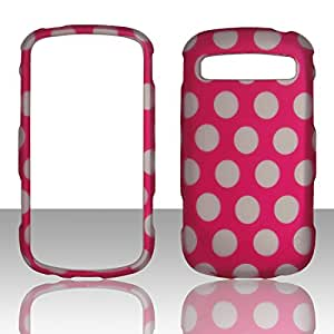 2D Dots on Pink Samsung Admire / Vitality R720 Case Cover Hard Case Snap-on Rubberized Touch Case Cover Faceplates