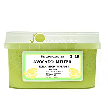 Avocado Butter Extra Virgin Unrefined By Dr.Adorable Pure Raw 48 Oz 3 lb