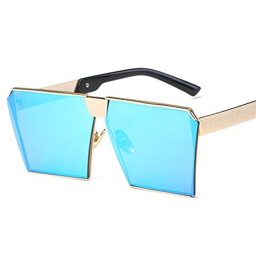 Frame mercury Gafas Gold Moda Sol De Frame La Blue Sol De Gafas Mercury Gafas Color Gold Gafas De JUNHONGZHANG Blue Mujer Sol Caja De De De Z4qAwHnU