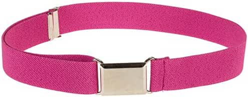 Kids Elastic Adjustable Strech Belt With Silver Square Buckle (Availaible in 21 colors)